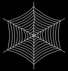 Spyder web Isolated on a black background vector image