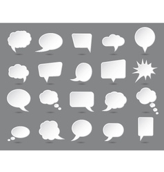 White speech bubbles set with shades vector image vector image