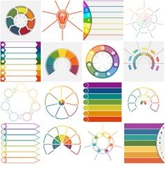 16 templates Infographics cyclic processes text ar vector image