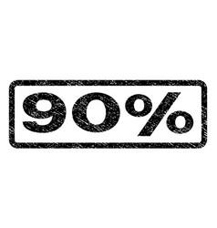 90 percent watermark stamp vector