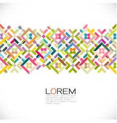 abstract strip colorful and creative geometric vector image
