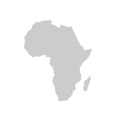 Africa continent gray template vector