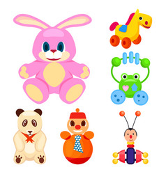 Animal toys for little children set vector