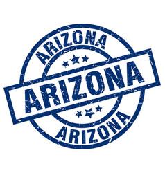 Arizona blue round grunge stamp vector