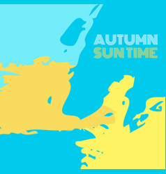 Autumn suntime background banner vector