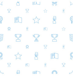 Award icons pattern seamless white background vector