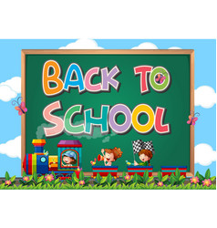 back to school template with sign vector image