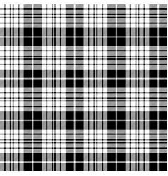 Blackberry clan tartan diagonal black white vector