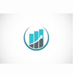 business arrow up logo vector image