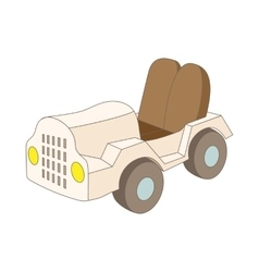Car at the airoport icon cartoon style vector image