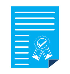 Certificate certified icon vector