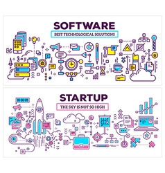 Creative concept of software and technology vector