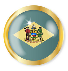 delaware flag button vector image