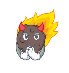 Devil meteorite mascot cartoon style vector