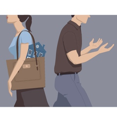 Divorce and division assets vector