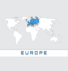europe on the map vector image
