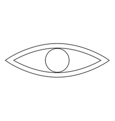 Eye the black color icon vector