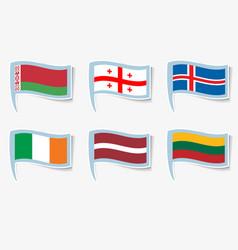 Flags flags ireland lithuania vector