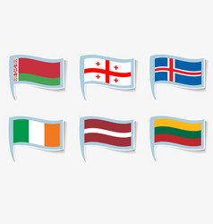 Flags flags of ireland lithuania vector