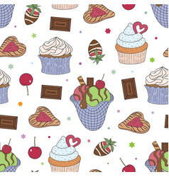 Food sweets and cakes -04 vector