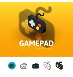 Gamepad icon in different style vector image
