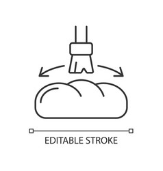Grease for baking linear icon vector