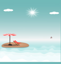 hello summer beach island vector image