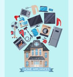 home appliances flat concept vector image