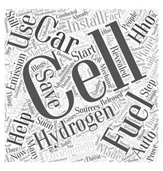 Hydrogen Fuel Cell Cars Word Cloud Concept vector