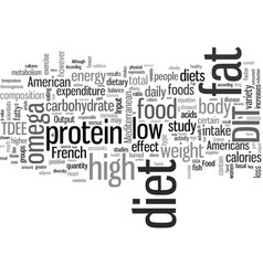 Is new high protein low saturated fat diet vector