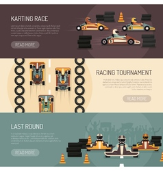 Karting Motor Race Banners vector