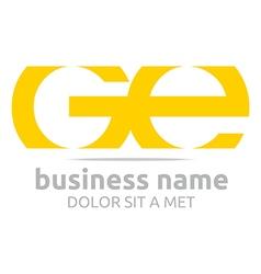 letter g e alphabet element icon vector image