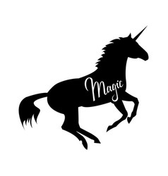 magic phrase on unicorn vector image