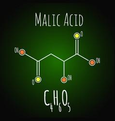 Malic acid formula chemistry science vector