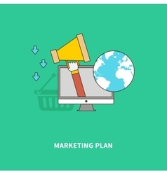 Marketing advertise product on global scale vector
