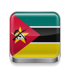 Metal icon of Mozambique vector