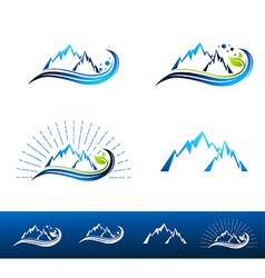 Mountain Resort Logo Design vector image