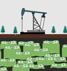 Oil rig shakes her money vector