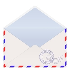 Open air mail envelope vector