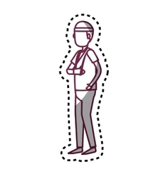 Person with hand broken avatar vector