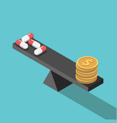 pills and money balance vector image