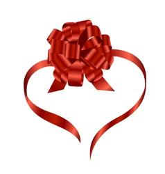 ribbon and bow vector image