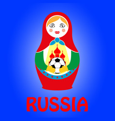 Russian nesting doll matryoshka vector