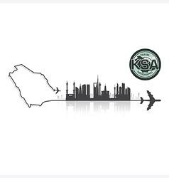 Saudi Arabia Skyline Buildings Silhouette vector