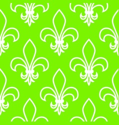 seamless pattern fleur de flis linear graphics vector image