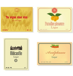 Set of a retro of labels of alcoholic beverages vector image
