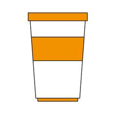 soda beverage in disposable cup icon image vector image