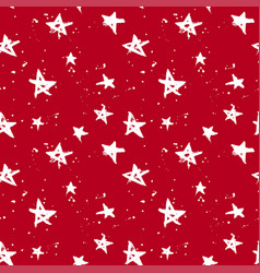 stars christmas red pattern vector image