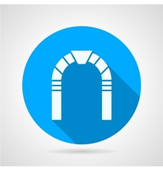 Stone arch flat icon vector image
