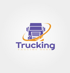 Truck logo template truck icon design element vector